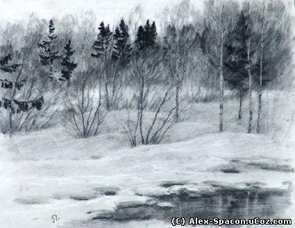 Картина «Конец зимы». Вшивцев Сергей Александрович