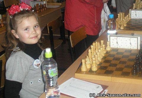 Юная шахматистка – Кононова Настя из города Советска, Кировская область